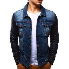 BASIC Pánská džínová bunda (tx1242) velikost: M, odstíny barev: modrá