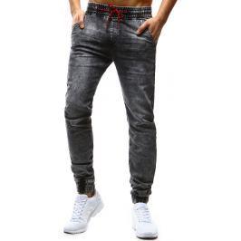 BASIC Pánské kalhoty Denim look (ux1179) velikost: 29, odstíny barev: šedá