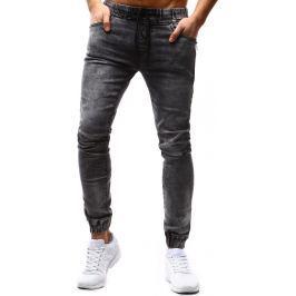 BASIC Pánské šedé kalhoty Joggers (ux1182) velikost: 32, odstíny barev: šedá