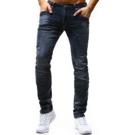 BASIC Modré pánské kalhoty (ux1195) velikost: 29, odstíny barev: modrá
