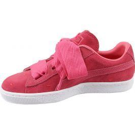 Puma Růžové tenisky s mašlí Suede Heart (365135-01) velikost: 36, odstíny barev: růžová