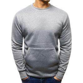 BASIC Pánská šedá mikina (bx1882) velikost: M, odstíny barev: šedá