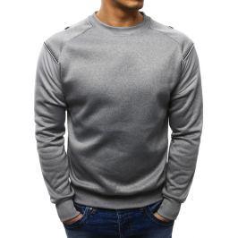 BASIC Pánská šedá mikina (bx1953) velikost: M, odstíny barev: šedá