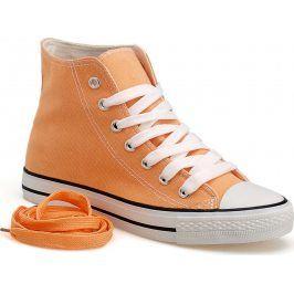 Broskvové kotníkové tenisky DTS8222 velikost: 36, odstíny barev: oranžová