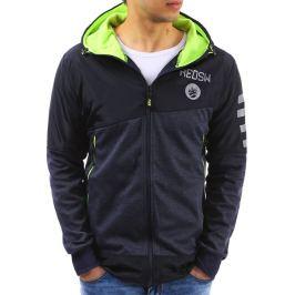 BASIC Pánská bunda s kapucí (tx2137) velikost: M, odstíny barev: modrá