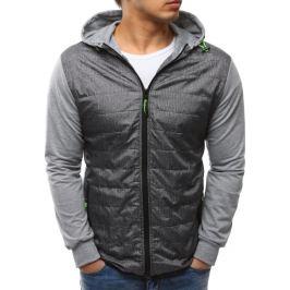 BASIC Pánská šedá bunda s kapucí (tx2146) velikost: M, odstíny barev: šedá