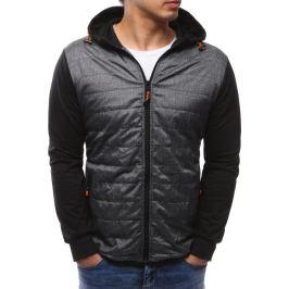 BASIC Pánská černá bunda s kapucí (tx2147) velikost: M, odstíny barev: černá