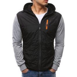 BASIC Pánská černá bunda s kapucí (tx2148) velikost: M, odstíny barev: černá