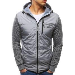 BASIC Pánská šedá bunda s kapucí  (tx2154) velikost: M, odstíny barev: šedá