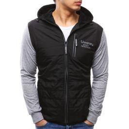 BASIC Pánská černá bunda s kapucí (tx2156) velikost: M, odstíny barev: černá