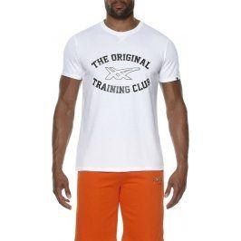 Pánské bílé tričko ASICS - 131530-0001 velikost: L, odstíny barev: bílá