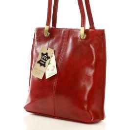 MAZZINI Červená kabelka/batoh v italském stylu (353c) Velikost: univerzální