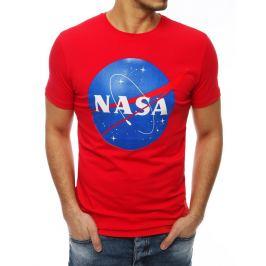 BASIC ČERVENÉ PÁNSKÉ TRIČKO NASA RX4097 Velikost: M