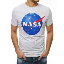 BASIC ŠEDÉ PÁNSKÉ TRIČKO NASA RX4099 Velikost: M