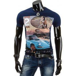 BASIC Pánské tričko (rx1120) velikost: 2XL, odstíny barev: modrá