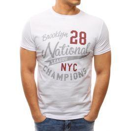 BASIC Bílé tričko s potiskem (rx2646) velikost: M, odstíny barev: bílá
