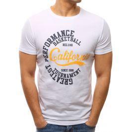 BASIC Bílé tričko s potiskem (rx2593) velikost: M, odstíny barev: bílá