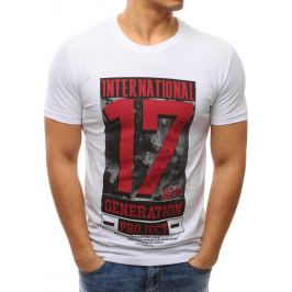 BASIC Bílé tričko s potiskem (rx2607) Velikost: M