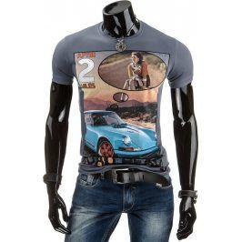 BASIC Pánské tričko (rx1121) velikost: 2XL, odstíny barev: šedá