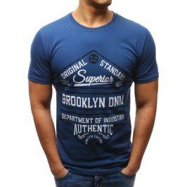 BASIC Modré tričko s potiskem (rx2610) velikost: 2XL, odstíny barev: modrá