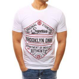 BASIC Bílé tričko s potiskem (rx2611) velikost: M, odstíny barev: bílá