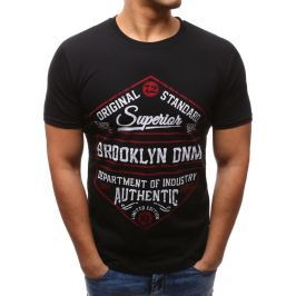 BASIC Černé tričko s potiskem (rx2612) velikost: M, odstíny barev: černá