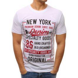 BASIC Bílé tričko s potiskem (rx2620) velikost: M, odstíny barev: bílá