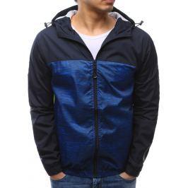BASIC Pánská modrá bunda s kapucí (tx2151) velikost: M, odstíny barev: modrá