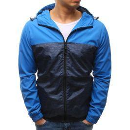BASIC Pánská modrá bunda s kapucí (tx2152) velikost: M, odstíny barev: modrá
