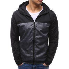 BASIC Pánská černá bunda s kapucí (tx2153) velikost: XL, odstíny barev: černá