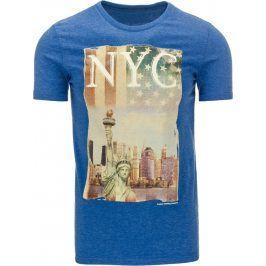 BASIC Pánské tričko s krátkým rukávem (rx1133) velikost: L, odstíny barev: modrá
