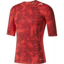 Adidas Červené kompresní tričko Graphic (BK1197) velikost: M, odstíny barev: červená