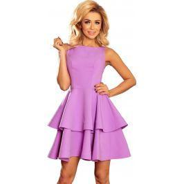 NUMOCO Fialové šaty CRISTINA 169-6 velikost: S, odstíny barev: fialová