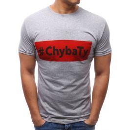 BASIC Šedé tričko s potiskem (rx2661) velikost: 2XL, odstíny barev: šedá