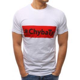 BASIC Bílé tričko s potiskem (rx2665) velikost: 2XL, odstíny barev: bílá