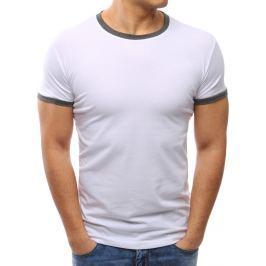 BASIC Bílé tričko bez potisku (rx2668) velikost: M, odstíny barev: bílá