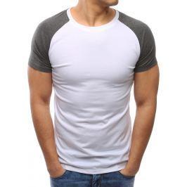 BASIC Bílé tričko bez potisku (rx2674) velikost: XL, odstíny barev: bílá