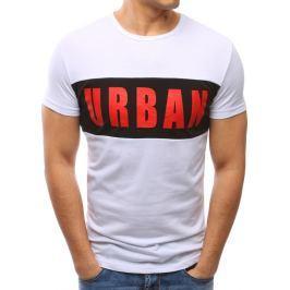 BASIC Modní bílé tričko s potiskem (rx2699) velikost: M, odstíny barev: bílá