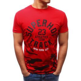 BASIC Červené tričko s potiskem (rx2714) velikost: M, odstíny barev: červená