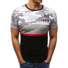 BASIC Černé tričko s potiskem (rx2719) velikost: M, odstíny barev: černá