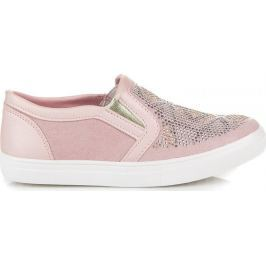 AMERICAN CLUB RŮŽOVÉ TENISKY SLIP ON (G-C15214P) velikost: 31, odstíny barev: růžová