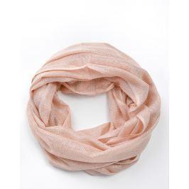 Růžový kruhový šátek (CH075-106) velikost: univerzální, odstíny barev: růžová