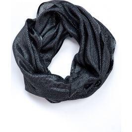Černý kruhový šátek (CH075-3) velikost: univerzální, odstíny barev: černá