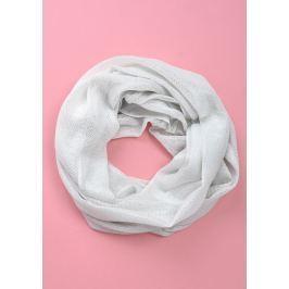Bílý kruhový šátek (CH075-33) velikost: univerzální, odstíny barev: bílá
