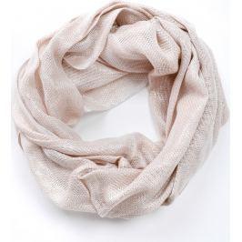 Krémový kruhový šátek (CH075-34) velikost: univerzální, odstíny barev: béžová