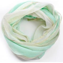 BASIC Lehký zelený šátek (CH8028-29) Velikost: univerzální