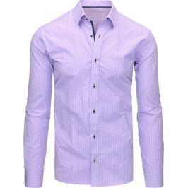 BASIC Fialová košile s dlouhým rukávem (dx1463) velikost: M, odstíny barev: fialová