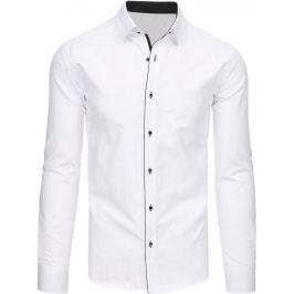BASIC Elegantní bílá košile s dlouhým rukávem (dx1474) velikost: L, odstíny barev: bílá