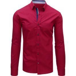 BASIC Elegantní bordó košile s dlouhým rukávem (dx1475) velikost: M, odstíny barev: červená