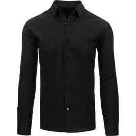 BASIC Elegantní černá košile (dx1045) velikost: M, odstíny barev: černá